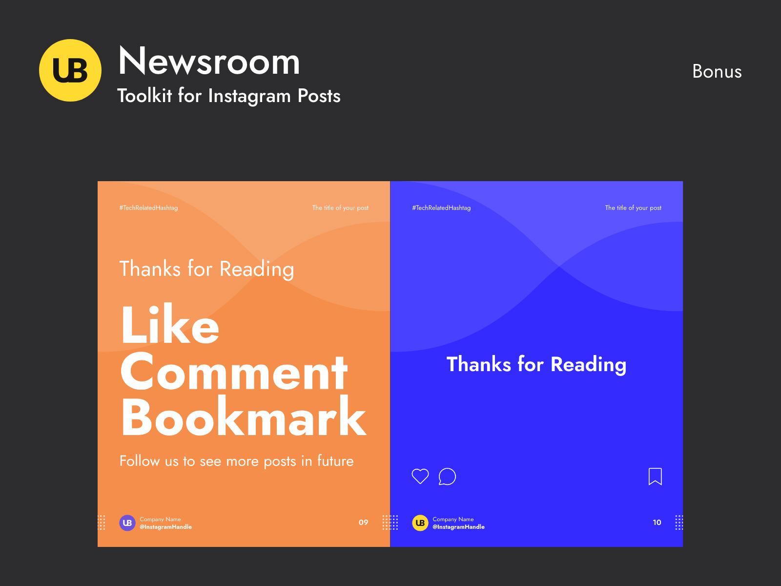 Newsroom-Instagram帖子模板插图6