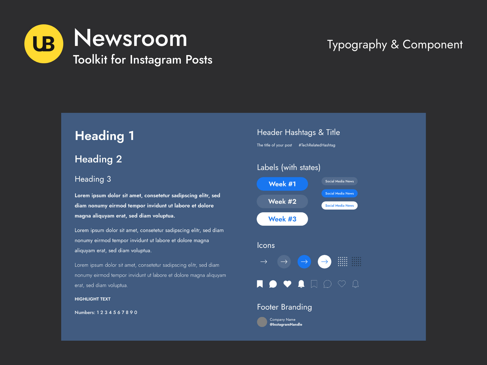 Newsroom-Instagram帖子模板插图5