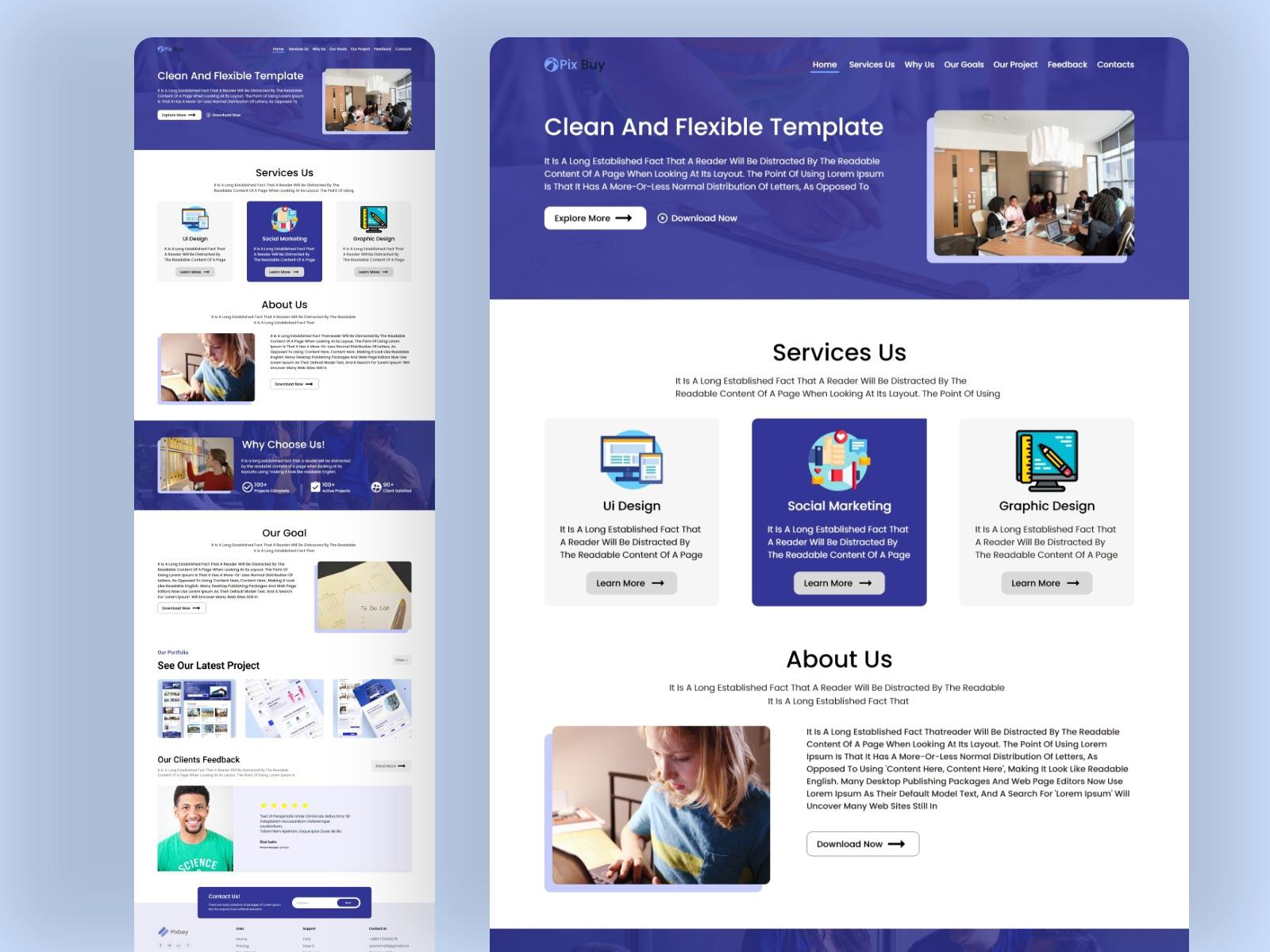 在线办公机构网站着陆页设计模板插图