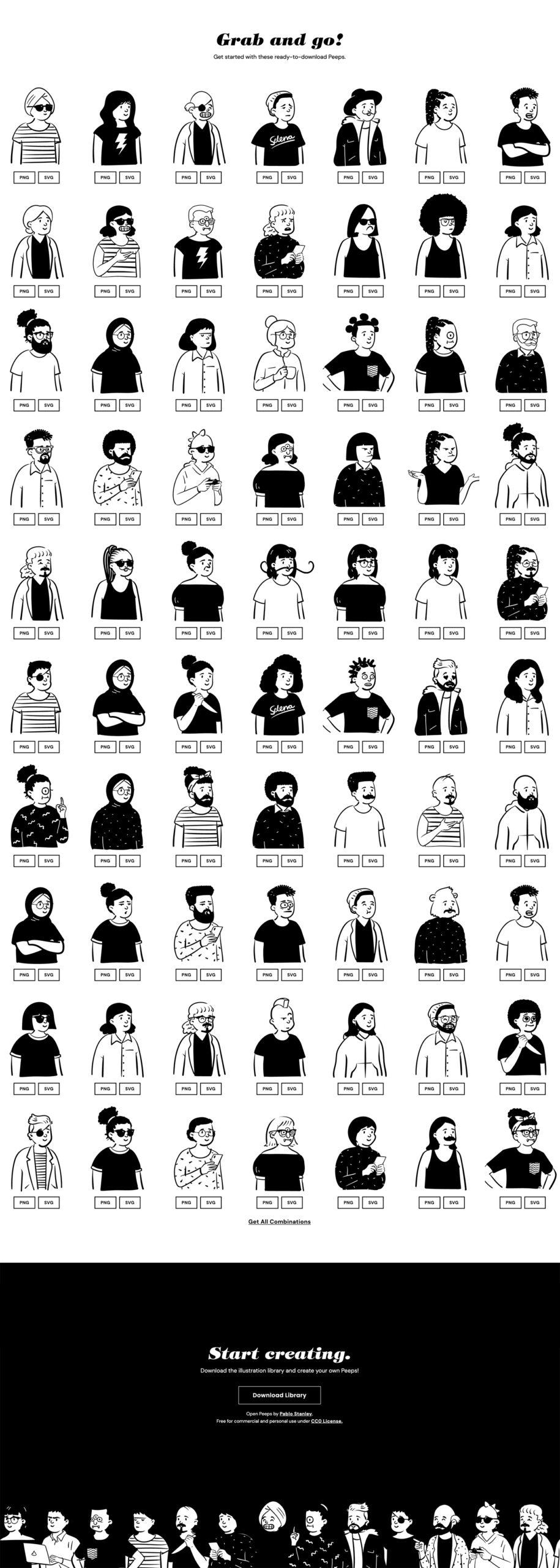 Open Peeps-涂鸦概念插画库插图