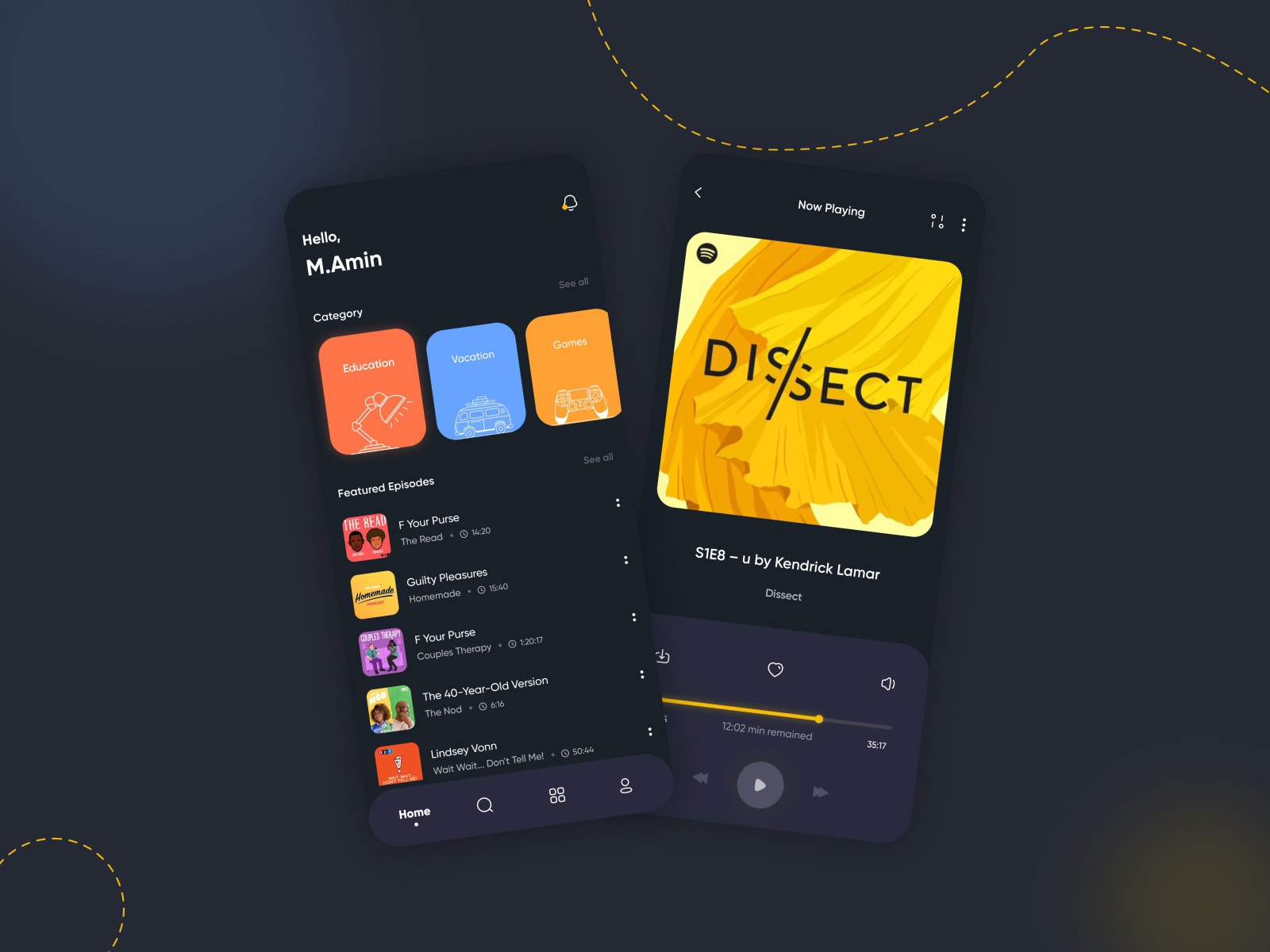 播客App应用程序概念套件插图