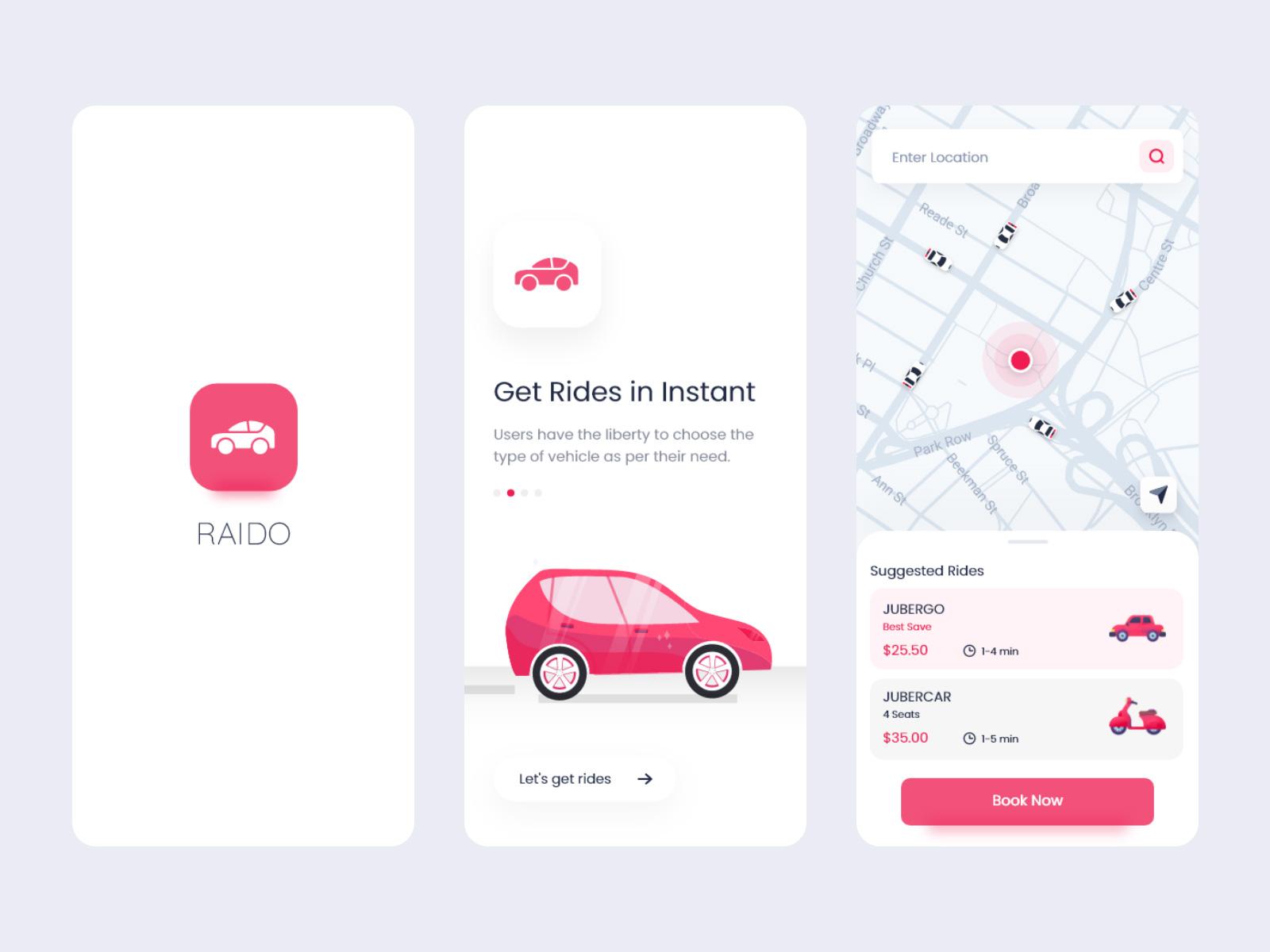 骑乘共享应用程序界面UI设计套件插图