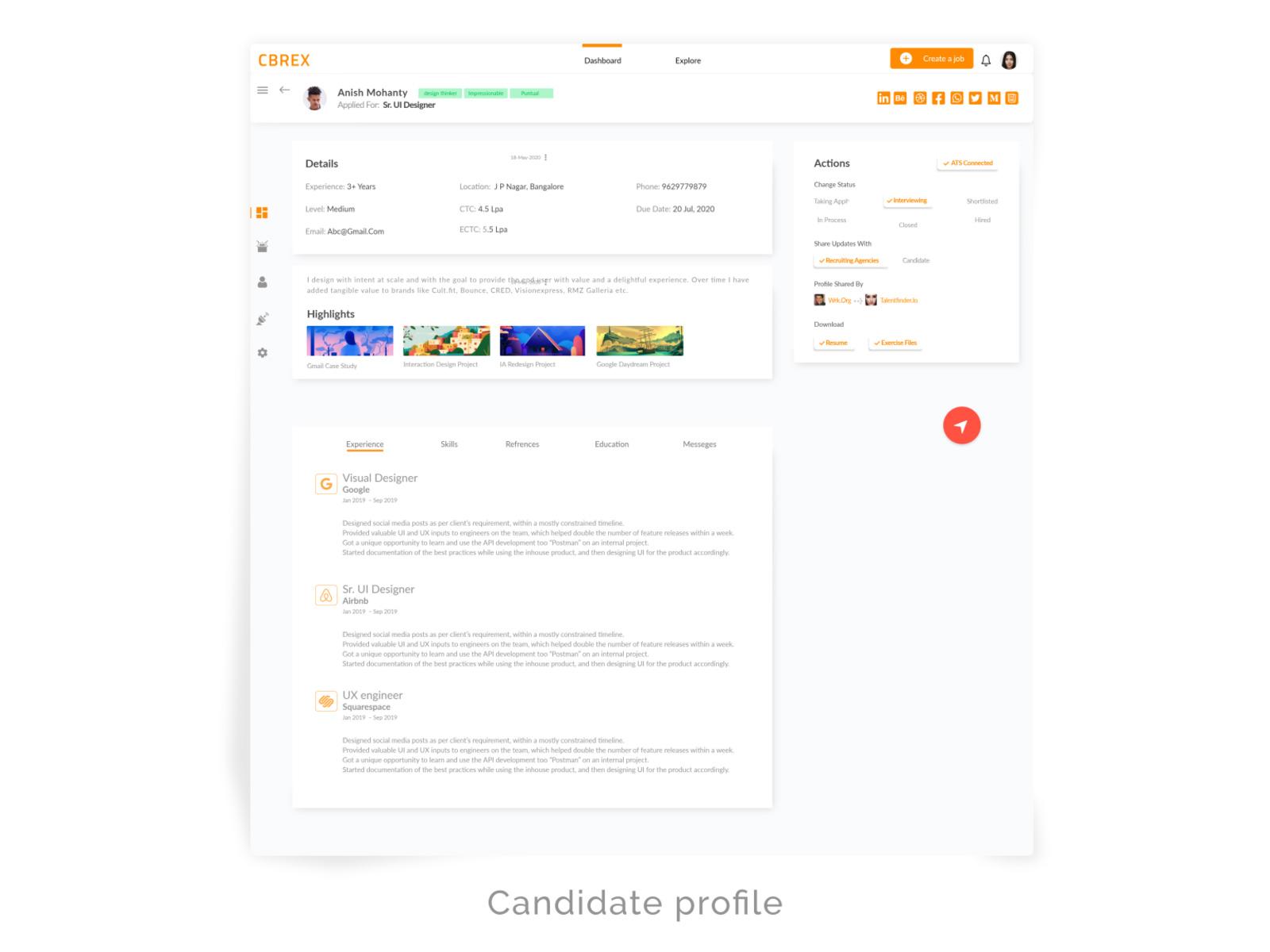 招聘人员和雇主仪表盘UI模板插图2