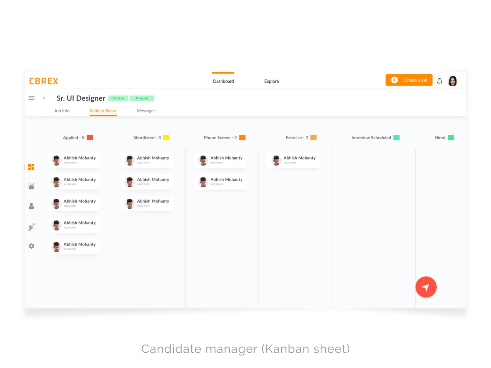 招聘人员和雇主仪表盘UI模板插图4