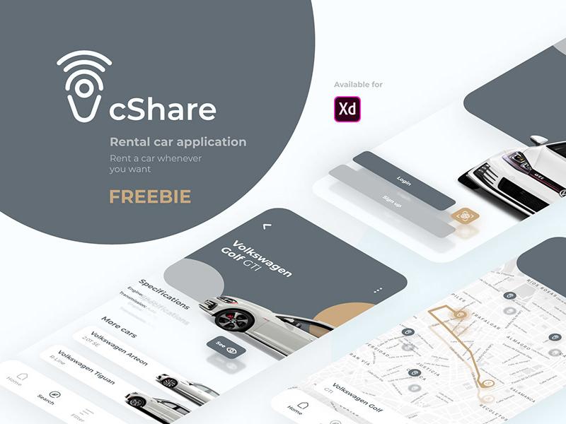租车App应用程序界面设计模板插图
