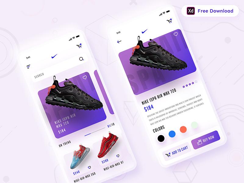 运动鞋商店应用程序界面UI套件插图