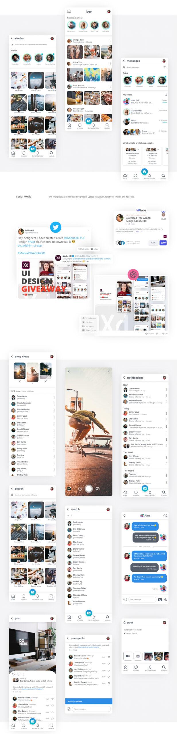 免费社交媒体APP用户界面套件插图1