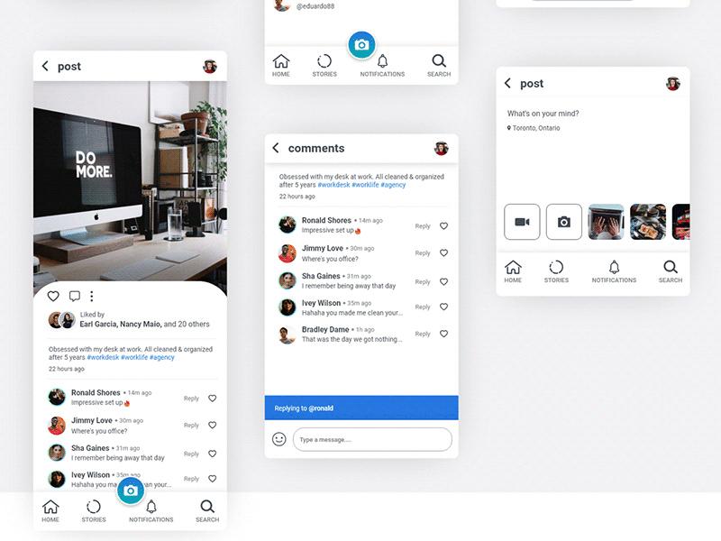 社交网络App应用UI套件插图