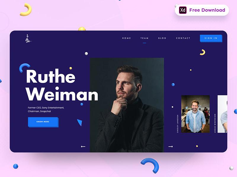 团队页面网站设计模板插图