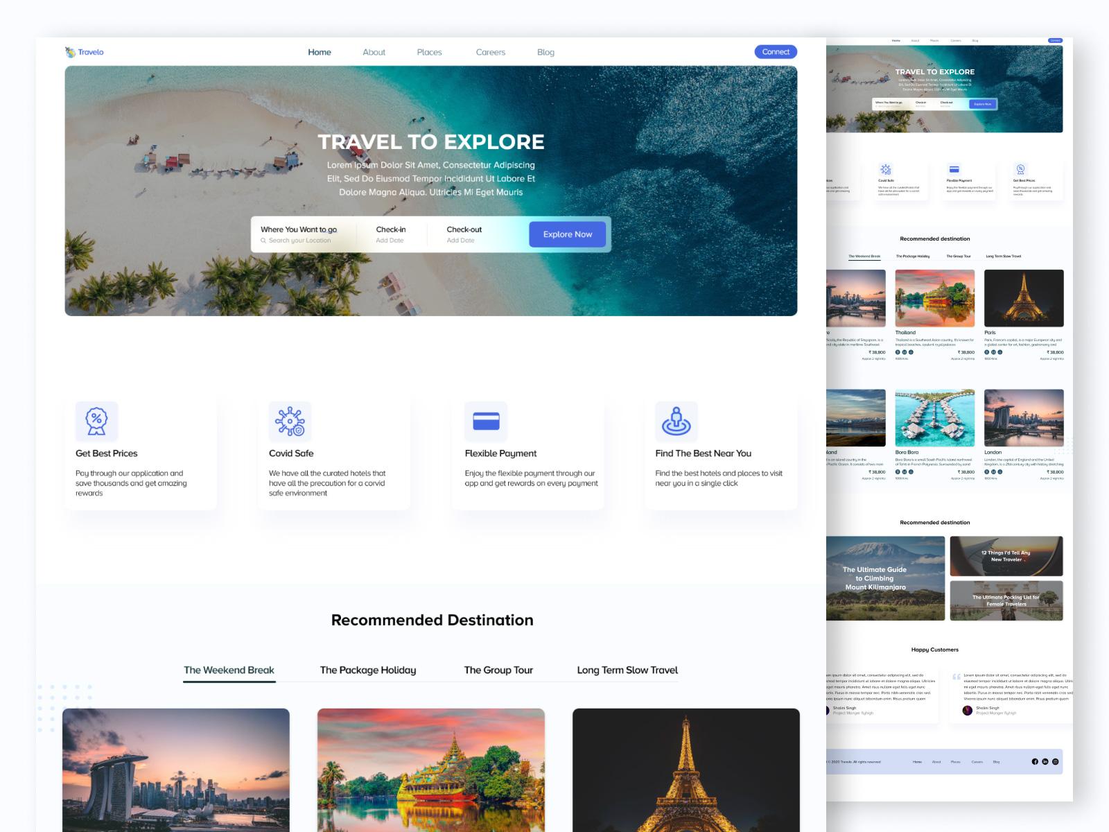 旅游网站模板插图