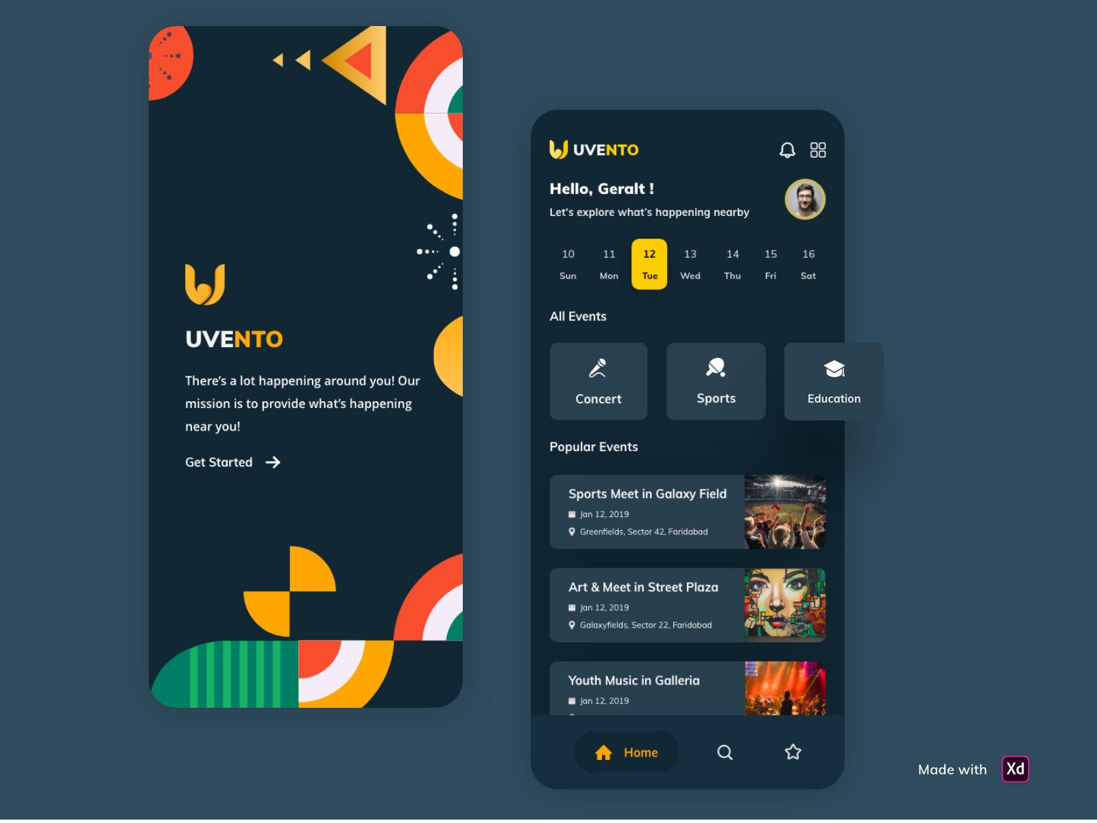 活动管理App应用程序UI套件插图