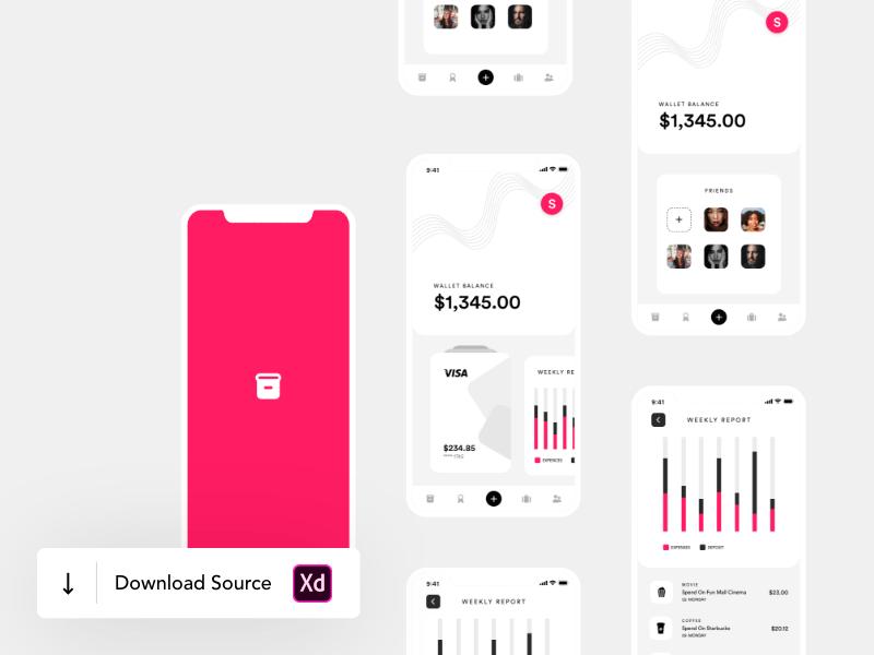 钱包App应用程序用户界面概念设计插图