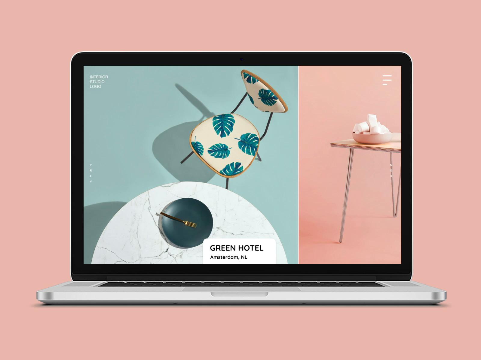 室内设计机构网站模板插图