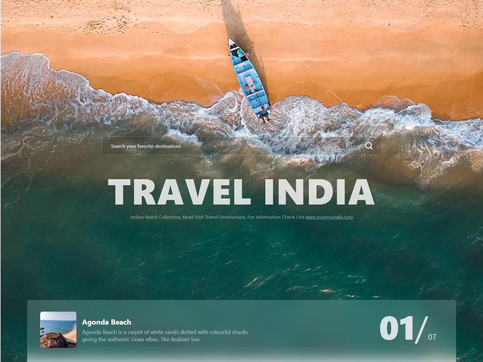 旅游与瑜伽网站首图设计模板插图