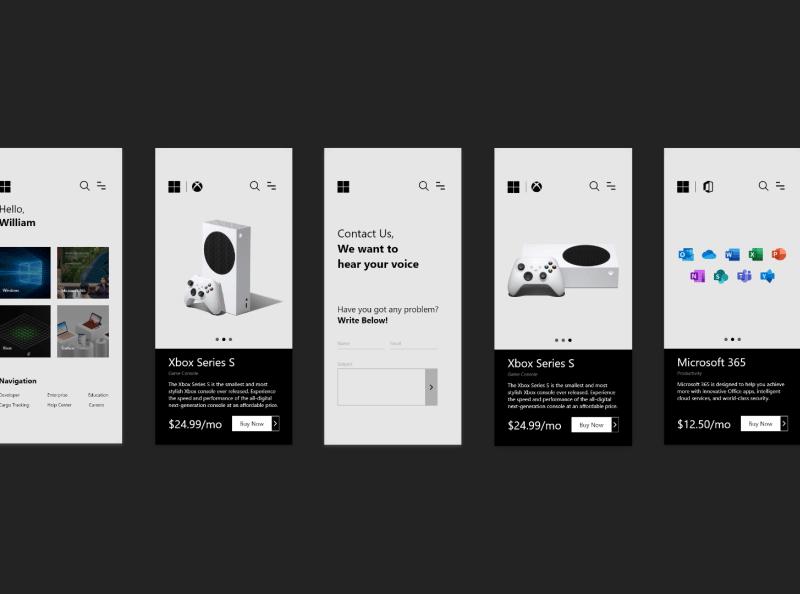 微软移动商店概念设计模板插图4