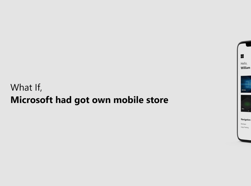 微软移动商店概念设计模板插图2