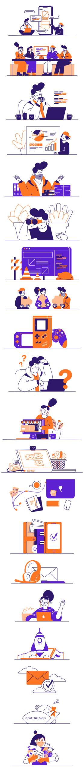 Whoooa-免费可定制插画插图