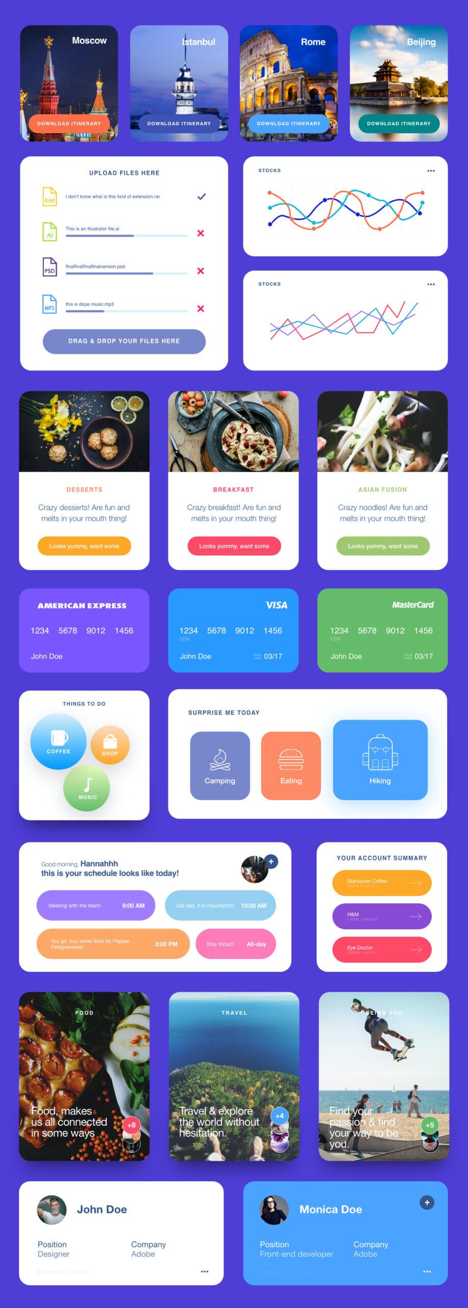免费手机应用小挂件UI设计套件插图1