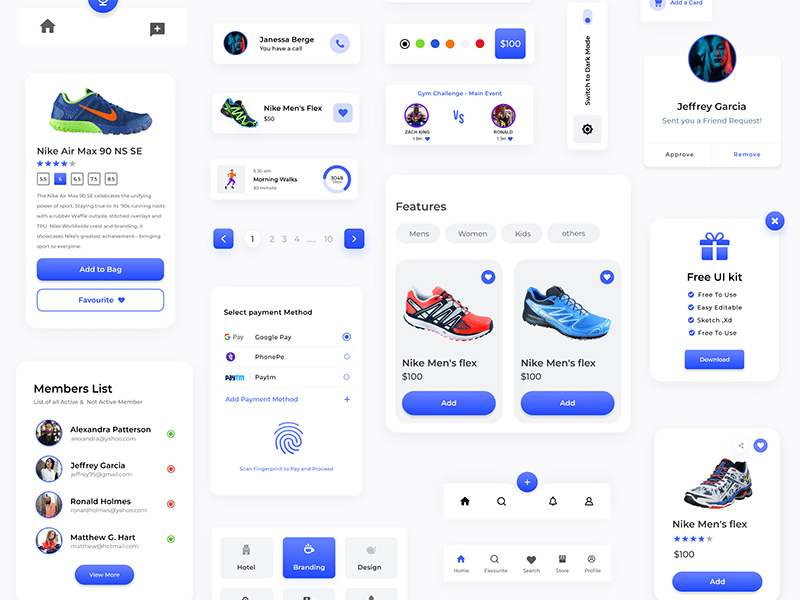 购物App组件用户界面套件插图