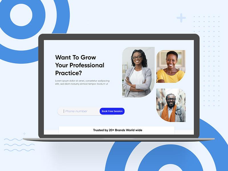 数字创业网站着陆页模板插图