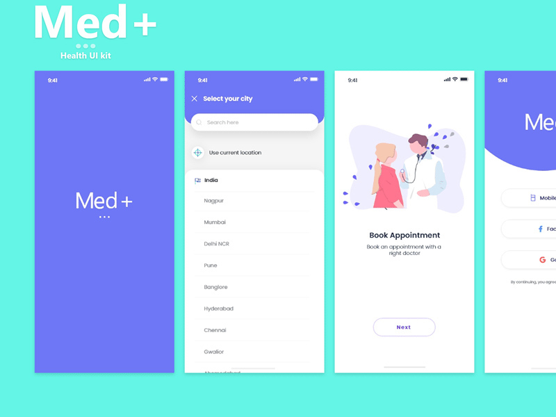 健康医疗App UI套件插图