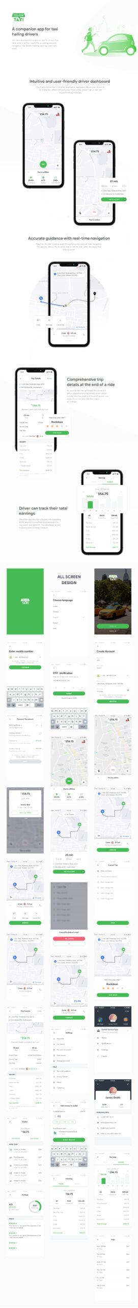 Yellow出租车司机应用程序插图